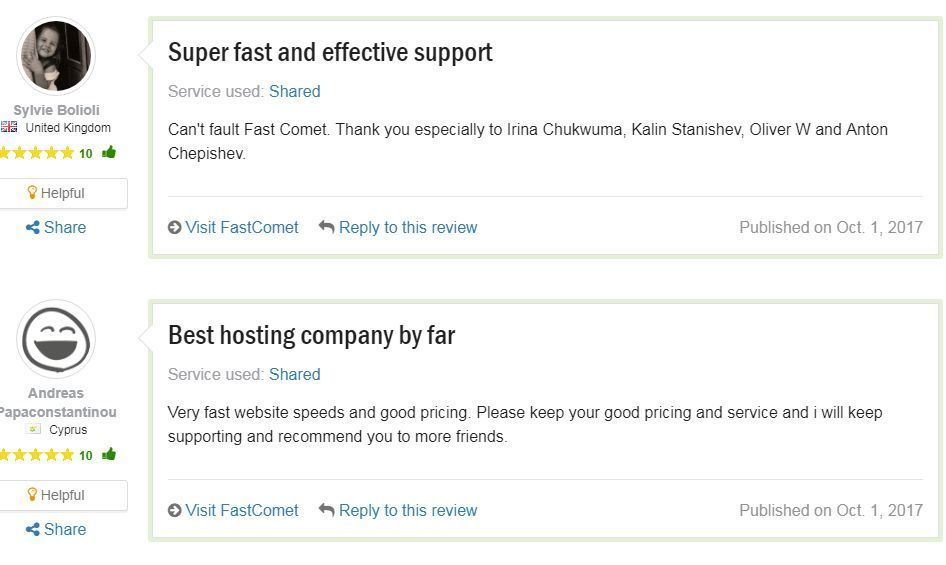fastcomet hosting users review 1